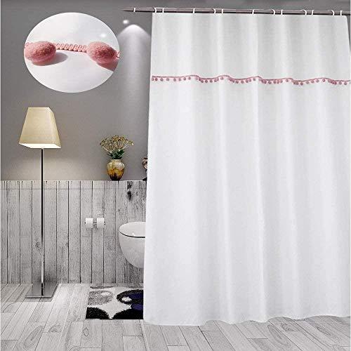 Polyester douchegordijn, badkamer douchegordijn meeldauw waterdicht lob, 180 * 180, Afmetingen: 180 * 180