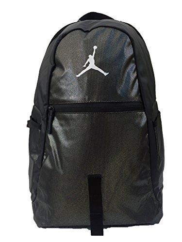 Nike Michael Jordan Air Jumpman Backpack Bookbag, BLACK/SILVER LAPTOP STORAGE