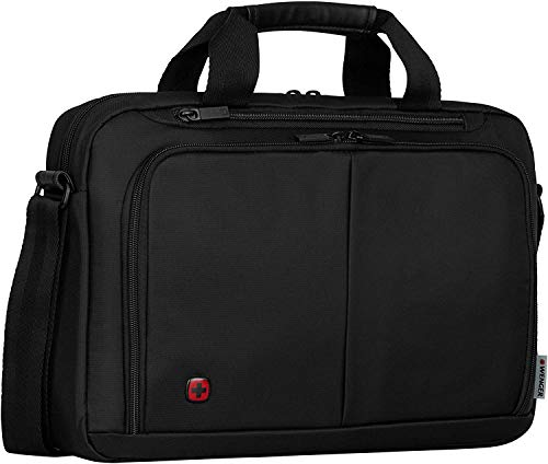 Wenger 601064 SOURCE 14' Laptop Briefcase , Padded laptop compartment with iPad/Tablet / eReader Pocket in Black {6 Litres}