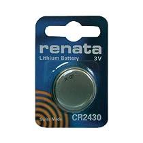 Pile bouton CR2430 lithium 3V 285 mAh Renata