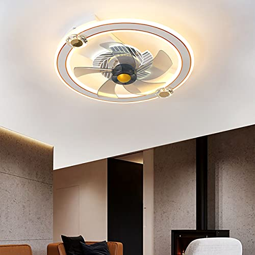 Ventilador Techo Con Luz Invisible Ventilador De Techo Con Iluminación Y Mando a Distancia Plafón Led Regulable Iluminación Interior Velocidad Del Viento Ajustable Dormitorio Lámpara Decorativa