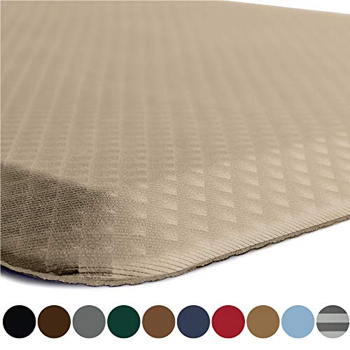 Kangaroo Original Standing Mat Kitchen Rug, Anti Fatigue Comfort Flooring, Phthalate Free, Commercial Grade Pads, Waterproof, Ergonomic Floor Pad for Office Stand Up Desk, 32x20, Beige