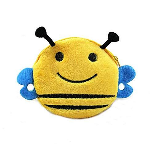RQWY Monedero A La Venta Kawaii Cartoon Beetles/búho/Abejas Niños Felpa Monedero Zip Cambio Monedero Monedero Niños Niña Mujeres para Regalo