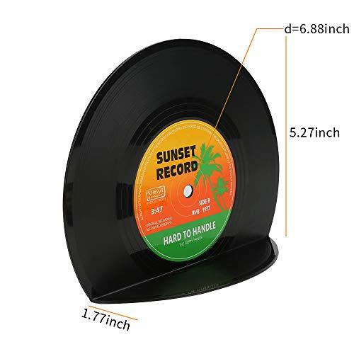 Buchstützen in Schallplattenform - 5