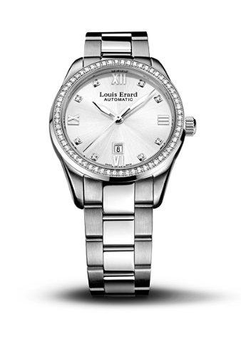 Louis Erard 20100SE11.BMA17 - Reloj analógico automático para Mujer, Correa de Acero Inoxidable Color Plateado