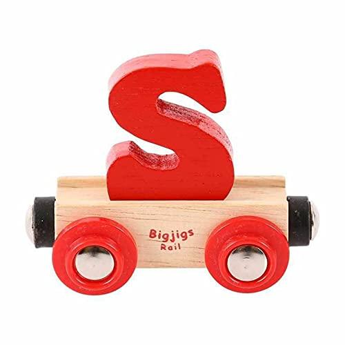 Bigjigs Rail Wagon Wooden Train Tracks - Letter S