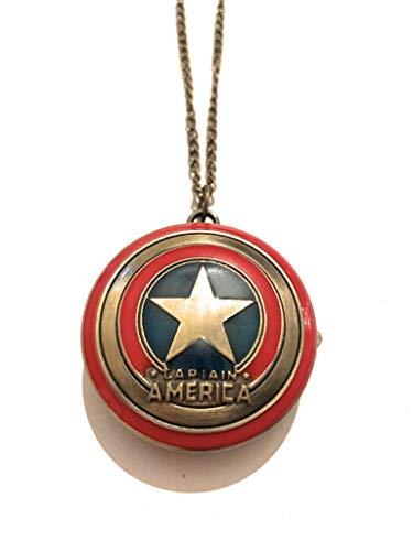 giulyscreations Halskette aus Metall, nickelfrei, Captain America mit Gravur, Bild, Captain America Superhelden Avengers The Winter Soldier Steve Rogers Fantasy Pop Cosplay