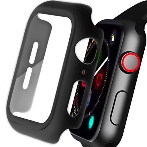 Veerve Ultra Protective Tempered Glass Case for Apple Watch SE / Series 6 / Series 5 / Series 4 All-Round Heavy-Duty Protection with Built-In Screen Protector 44mm/40mm (44mm)