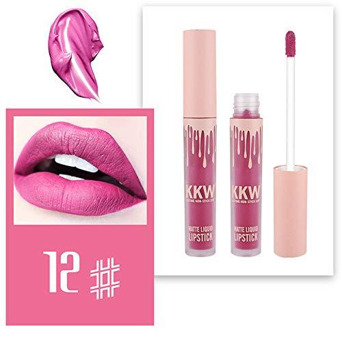 XCBCVHG Mat Rouge à lèvres Liquide, Matte Brillant à Lèvres Liquid Lipstick Rouge-à-lèvres Longue Tenue Waterproof Plumper Makeup Maquillage à Lèvres