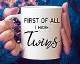 Taza de café para la primera madre, regalo para mamá de gemelos, divertido gemelos, mamá gemela, regalo para mamá gemela, regalo de cumpleaños