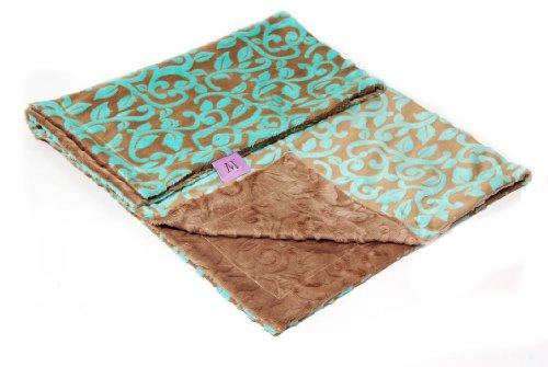 Magnolia Line Minky Baby Blanket Cuddle Blue by Magnolia Line