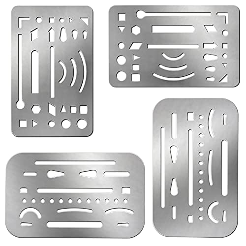 4 Pieces Erasing Shield Stainless Steel Drawing...