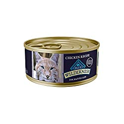 Blue Buffalo Wilderness High Protein Grain Free, Natural Mature Pate Wet Cat Food