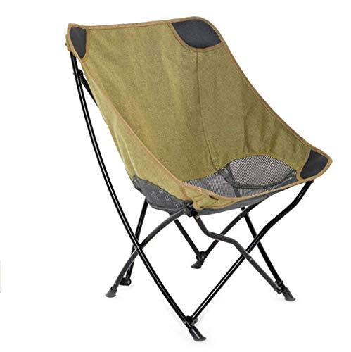Silla Plegable Camping al Aire Libre de Malla Transpirable Ligero Silla sólido portátil for Picnic Barbacoa Beach Alquiler aijia