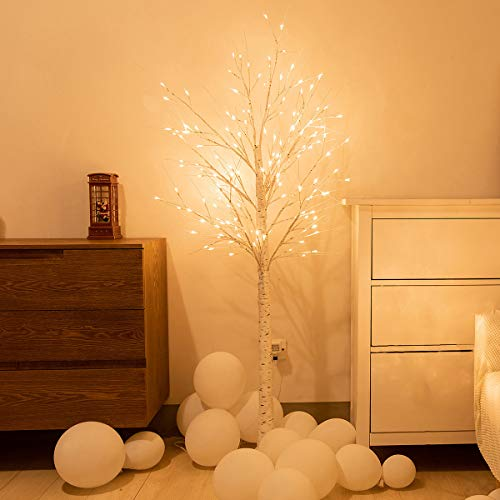 イルミネーションライト フェアリーライト ストリングライト ツリーライト 光る クリスマスツリー USB式 LEDライト 180cm 90cm 枝 白樺 ホワイト おしゃれ 人気 プレゼント ギフト