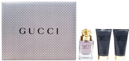 Gucci Made to Measure Geschenkset homme / men, Eau de Toilette Vaporisateur / Spray 50 ml, Aftershave Balm 50 ml, Duschgel 50 ml, 1er Pack (1 x 150 ml)