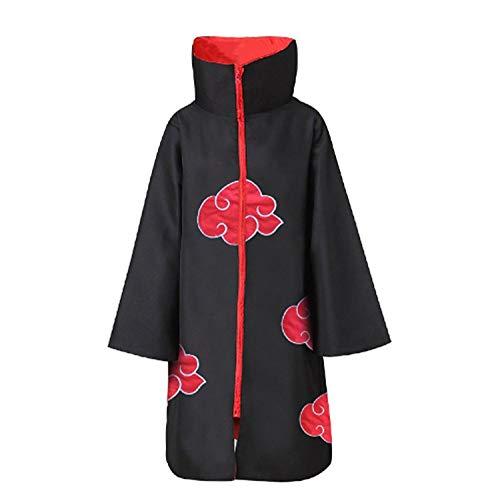 Linen Family Akatsuki Mantel Cosplay Kostüm Cloak Cosplay Anime Umhang Xiao Organisation Umhang, Schwarz S bis 3XL