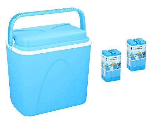 Peters-Living Kühlbox mit 6 Kühlakkus Getränkekühler 24 Liter 3518667 Campingbox Mobil Set