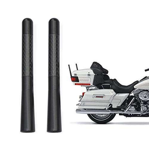 Bingfu Motorcycle Carbon Fiber Antenna Mast Motorcycle Radio Antenna Replacement 2-Pack Compatible with Harley Davidson Motorcycle 1989-2019 Touring Electra Glide Road Glide Tour Ultra Classic