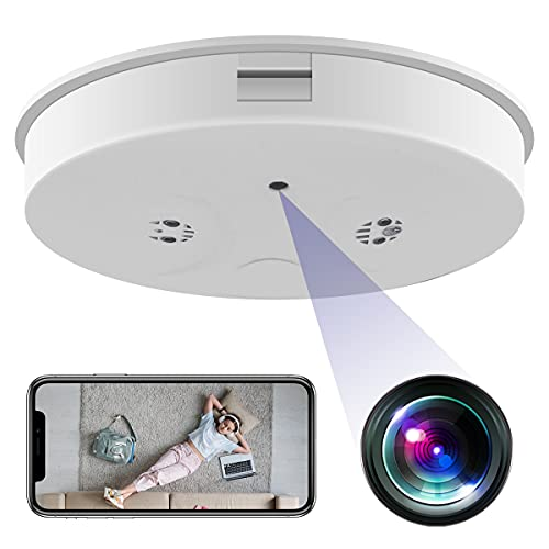 Hidden Camera Smoke Detector, Spy Camera Smoke Detector MINGYY HD 1080P WiFi Camera Nanny Baby Pet Cam Night Vision Motion Detection Remote Real-time Video for Home Security