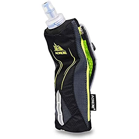 LX LERMX Handheld Water Bottle for Running, Quick Grip Chill 17 oz Handheld Soft Water Bottle with Hand Strap Hydration Pack