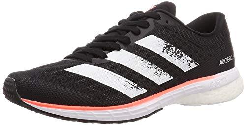 Adidas Adizero Adios 5 w, Zapatillas para Correr para Mujer, Core Black/FTWR White/Signal Coral, 42.67 EU