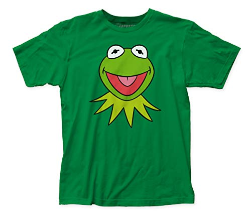 Impact Merchandising The Muppets Kermit Face Fitted Jersey tee (Small) Kelly Green