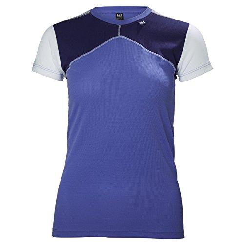 Helly Hansen W HH LIFA T Camiseta, Mujer, Morado, Large (Tamaño del Fabricante:L)