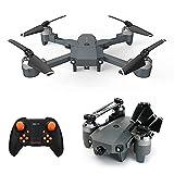 rzoizwko Drone, Mini Drone Plegable con cámara HD 720P FPV WiFi RC Quadcopter, Control de Gestos, Vuelo de trayectoria, Vuelo Circular, Rotación de Alta Velocidad, Volteos 3D, Sensor G, Modo sin Cabe