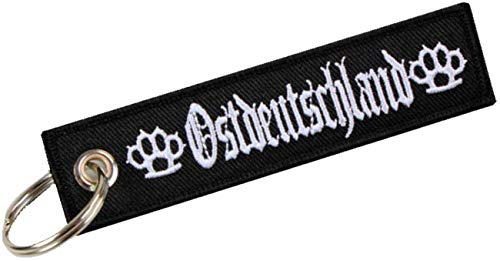 Schlüsselanhänger Ostdeutschland Hardcore Stickerei