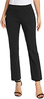 Women's Dress Pants Casual Bootcut Stretch Comfort Fit Pull on Work Pant Trousers with Pockets - - 14