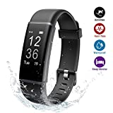 Lintelek Fitness Trackers, Fitness Trackers with Heart Rate Monitor, Activity Trackers Sports Watch Pedometer, 14 Sports Modes, Step Counter Wristband for Kids, Men and Women