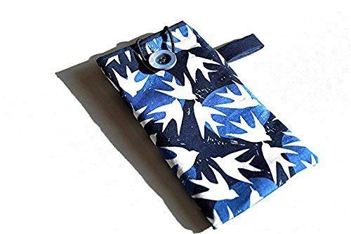 Bird Eyeglasses Case or Phone Cover in Blue and White