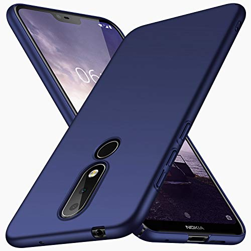 XINKO Nokia 7.1 Hülle, Harte Schale Slim PC Stoßsicheres Gehäuse Hülle, Advanced Shock Absorption Technology, für Nokia 7.1 (Blau)