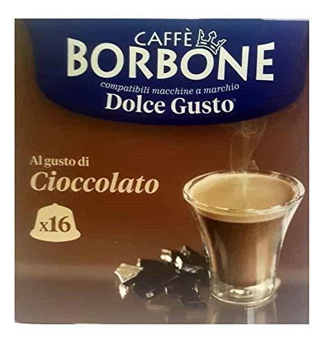 16 Capsule Caffè Borbone cioccolato compatibili Nescafè Dolce Gusto ®