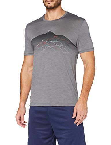 icebreaker Herren Merino T-Shirt Spector Seven Summits, Timberwolf, S, 104598