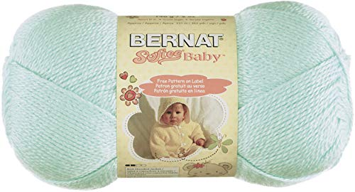 Bernat Softee Baby Yarn, 5 oz, Mint, 1 Ball