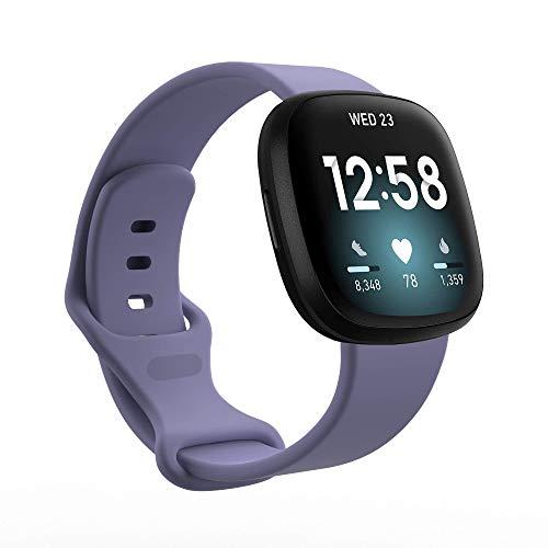BoLuo Correa para Fitbit Versa 3/Fitbit Sense,Bandas Correa Repuesto,Correas Reloj,Silicona Reloj Recambio Brazalete Correa Repuesto Strap Wristband para Fitbit Versa 3/Fitbit Sense (azul 1, S)