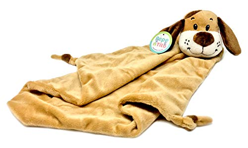 "Baby Security Blanket - 18"" Tall Soft Fleece Baby Blanky for Boys & Girls – Baby Soothing Blanket with Plush Stuffed Animal - Puppy Dog"