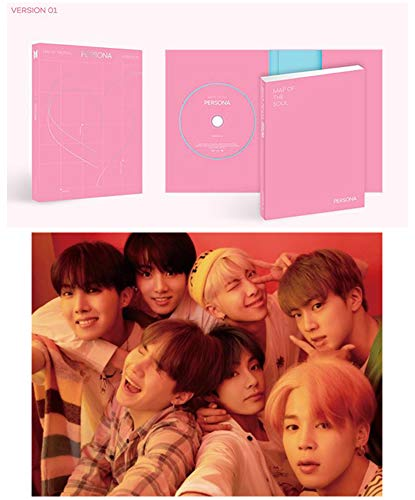 BTS Map of The Soul Persona Album PreOrder Version 1 CD+Poster+Photobook+Mini Book+Photocard+Postcard+Photo Film+Gift(Extra Double-Sided BTS Photocards Set)