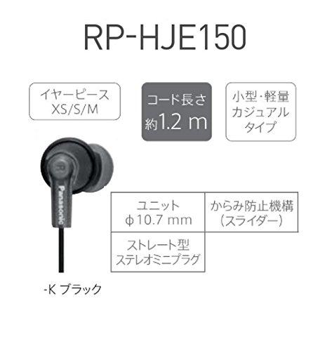 Panasonic(パナソニック)『ステレオインサイドホンRP-HJE150』