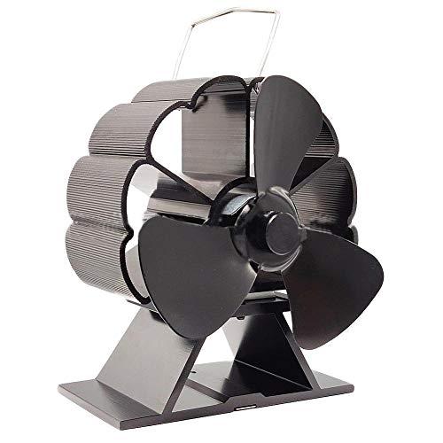 Kamin-Ventilator Mini Kamin-Ventilator Wärmeleistung leise und umweltfreundlich. Der Heizlüfter kann den Kopf schütteln. Ventilator mit 3 Flügeln bei starkem Wind.