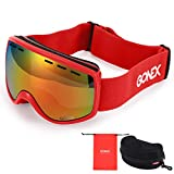 Gonex Ski Goggles, Skiing Goggles Anti Fog UV400 Protection for Kids Children Youth Teen, Snowboard Goggles for Girls Boys 3 4 5 6 7 8 Year-old
