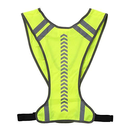 Lixada Reflektorweste Running Sicherheitsweste Fahrrad Warnweste, Warnweste mit hoher Sichtbarkeit mit Tasche