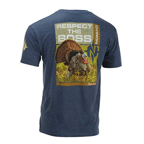 Nomad Outdoor Nwtf Ryan Kirby Respect Tee, Heather Navy, Extra Large