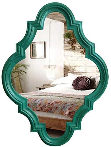 Miroir de maquillage LHY Rhombus Mural Creative Art Déco Miroir Salle de Bains Toilettes Miroir Miroir Salle de Bains La Mode