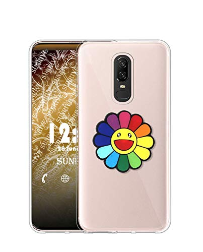 Sunrive Kompatibel mit Meizu 15 Hülle Silikon, Transparent Handyhülle Schutzhülle Etui 3D Hülle (A1 Blumen)+Gratis Universal Eingabestift MEHRWEG