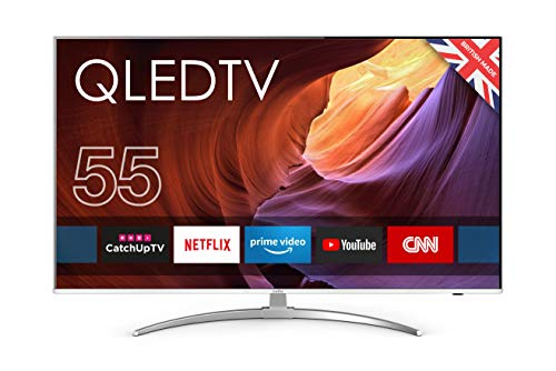 "Cello C55QLED 55"" QLED Superfast Smart 4K HDR TV with Wi-Fi and Freeview T2 HD"