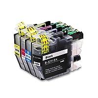 丈夫な ブラザーLC3211用の互換性のあるインクフィットカートリッジブラザーDCP-J772DW、DCP-J774DW、MFC-J890DW、MFC-J895DWプリンター用のLC3213フィット(カラー:1BK 1C 1Y 1M) (Color : 1bk 1c 1y 1m)