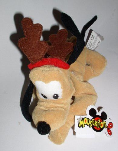 Disney Mouseketoys Mickey Mouse Club Christmas - Reindeer Pluto 9' Bean Bag